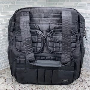 Lug Puddle Jumper Overnight Gym Bag In Black